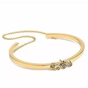 Coach Signature Double Chain Cuff Bracelet